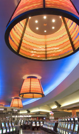 C830 -  Morongo Casino Resort  ceiling fixtures; Design by Jerde Partnership, Lighting design by Visual Terrain
