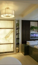 C878 Ceasars Augusta Spa Suites - Backlit Onyx wall; Design by Wilson & Associates