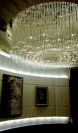C995B -Nuances Casino,crystal and glass chandelier recycled_Blazys Girard