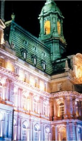 C458  -Montreal City Hall Exterior Lighting; Design by Gilles Arpin, Lighting Design by Eclairage Public