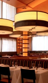 C874 Bar Americain  floor standing light fixtures; Design by David Mexico, Rockwell Group