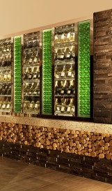 C1216 - Hilton Mclean -  Lit Bottle Wall; Design by TVS Design