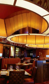 C931 Borgata Sea Blue Restaurant - Ceiling fixture; Design by Adam Tihany, Lighting Design by Focus Lighting